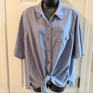 Denim short sleeve button down 18W/20W